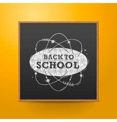 Back to school blackboard on the wall vector image