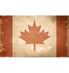 Canadian grunge flag vector image