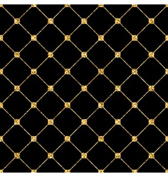 Rhombus seamless pattern black 2 vector image