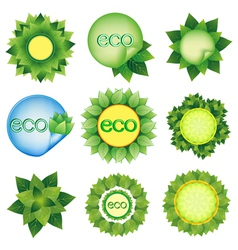 Set of elements for Eco design vector image vector image