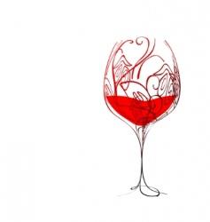 stylized wineglass vector image vector image