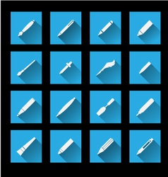 Writing Tools icons vector image vector image