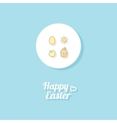Happy Easter Greeting card vector image vector image