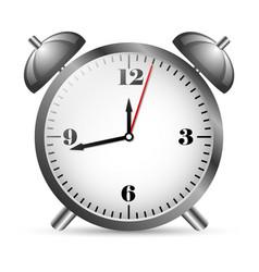 metal alarm clock vector image vector image