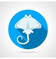 Stingray flat round icon vector image