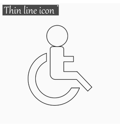 Wheelchair Handicap icon Style thin line vector image