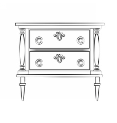 Classic furniture with royal luxury ornaments vector image