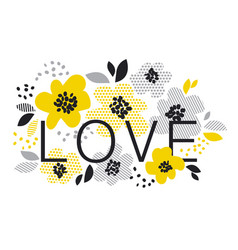 contemporary spring floral design with yellow vector image vector image