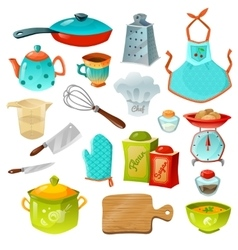 Cooking Decorative Icons Set vector image