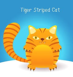 cute tiger stripes cat vector image vector image