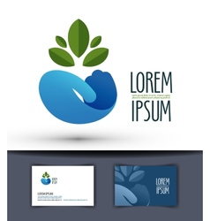 grower logo design template plant or ecology icon vector image vector image