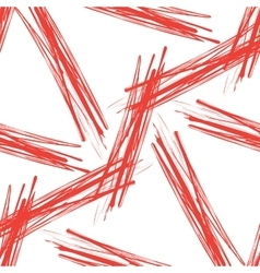 Seamless grunge background of red brushes vector image vector image