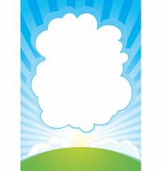 Sunrise with cloud background vector
