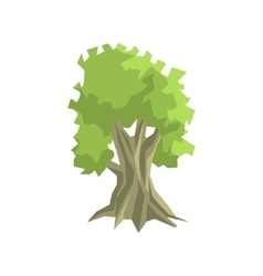 Tall Foliage Tree Jungle Landscape Element vector image