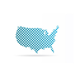 usa united states chequered map graphic vector image vector image