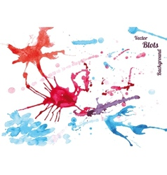 watercolor blots vector image vector image