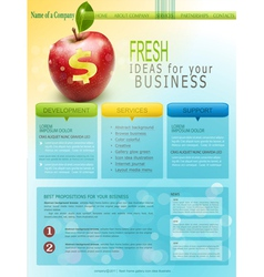 website for business with red apple vector image vector image