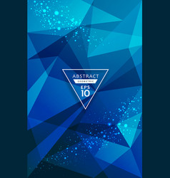 abstract triangles geometric blue lighting point vector image vector image