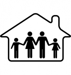 house family parents and children vector image vector image