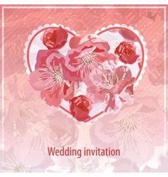 invitation for wedding vector image