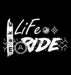 moto travel slogan symbol text vector image