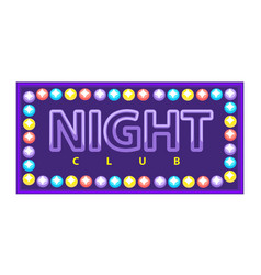 night club vivid banner vector image