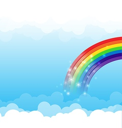 Rainbow cloud and sky background 003 vector image