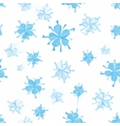 Seamless Floral Christmas Pattern vector image