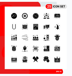 25 solid glyph concept for websites mobile and vector