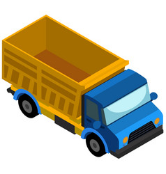 3d design for truck vector image