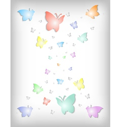 Abstract colorful paper butterflies vector