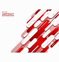 abstract of futuristic technology gradient red vector image