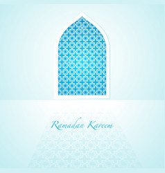 Arabic pattern on mosque window vector