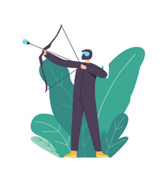 Archery sport training or competition concept vector
