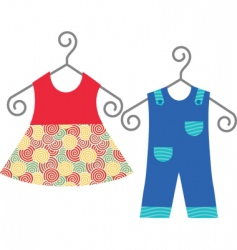 Baby clothing vector