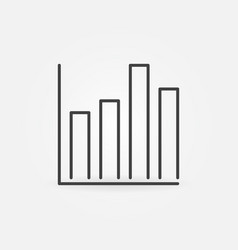 bar chart concept line icon or statistics vector image