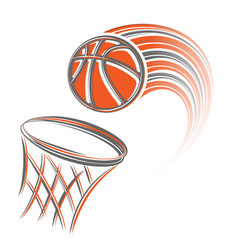 Basket and ball vector