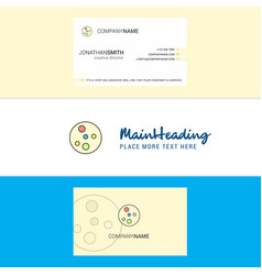 Beautiful bacteria plate logo and business card vector