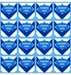Blue chevron Abstract geometric pattern vector