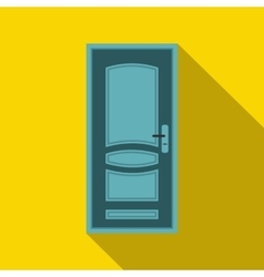Blue door icon in flat style vector image vector image