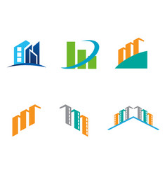 building business logo image vector image
