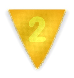 Bunting flag number 2 vector