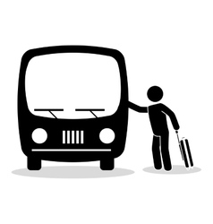 Bus travel service public vector