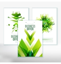 Business Abstract Brochure design set vector