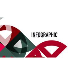 business presentation geometric template vector image