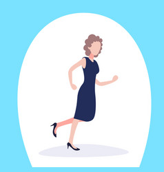 businesswoman running business meeting female vector image