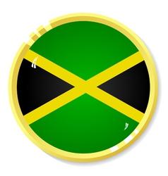 Button with flag Jamaica vector