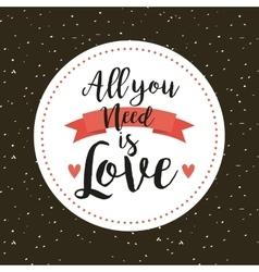 Card of love design vector
