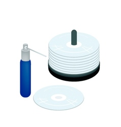 CD or DVD with A Cleaning Solution vector
