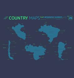 Chile argentina brazil venezuela and peru vector